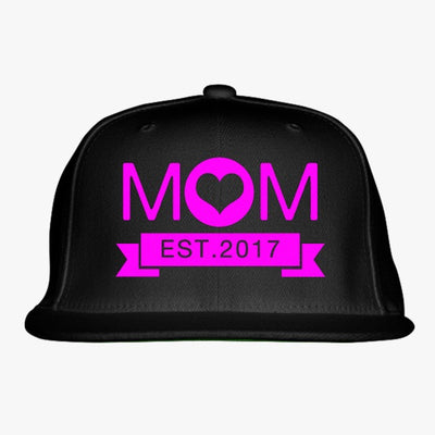 New Mom Embroidered Snapback Hat