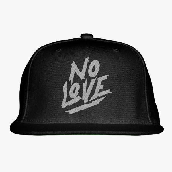 No Love Embroidered Snapback Hat