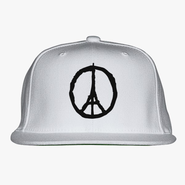 Peace For Paris Embroidered Snapback Hat