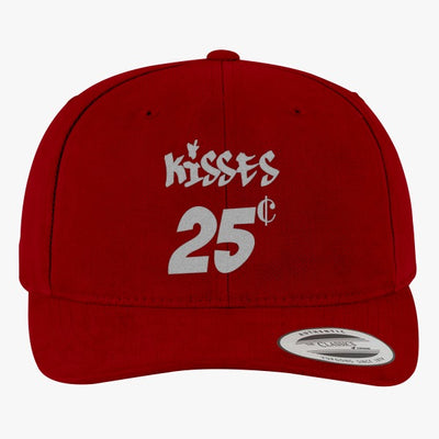 Kisses 25 Cents Brushed Embroidered Cotton Twill Hat