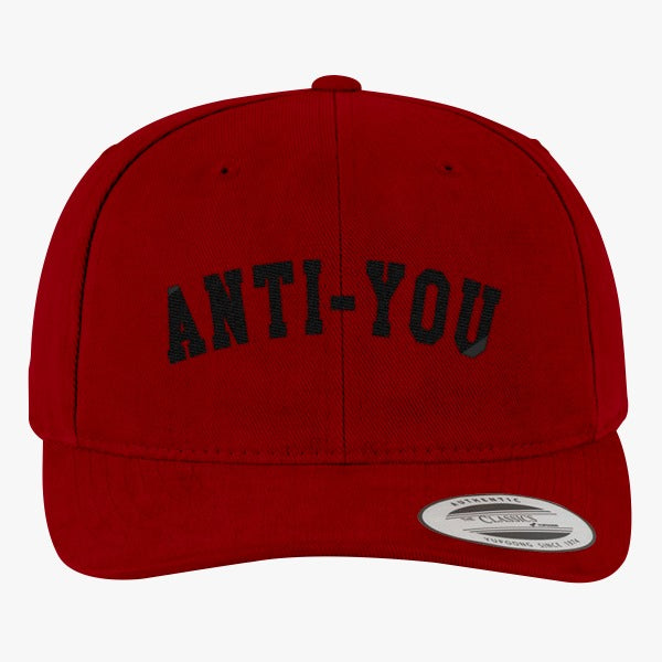 Anti-you Brushed Embroidered Cotton Twill Hat