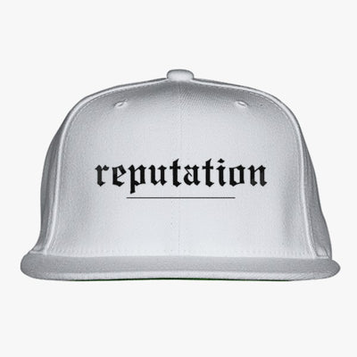 Reputation Embroidered Snapback Hat