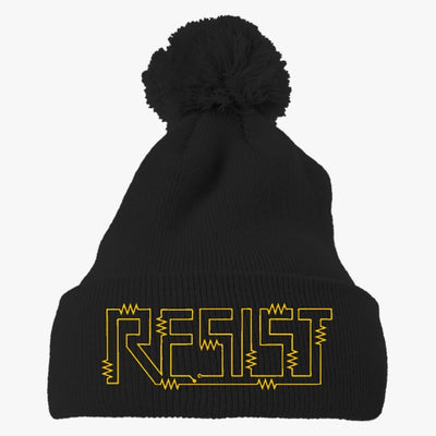 Resist For Science March Embroidered Knit Pom Cap
