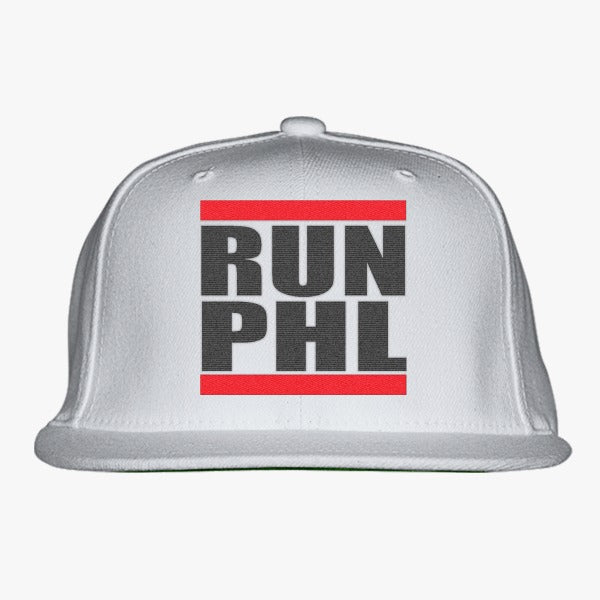 Run Phl Embroidered Snapback Hat