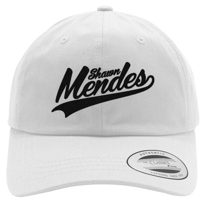 Shawn-mendes---black Embroidered Cotton Twill Hat