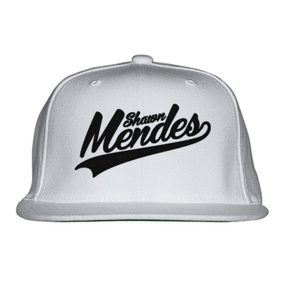 Shawn-mendes---black Embroidered Snapback Hat