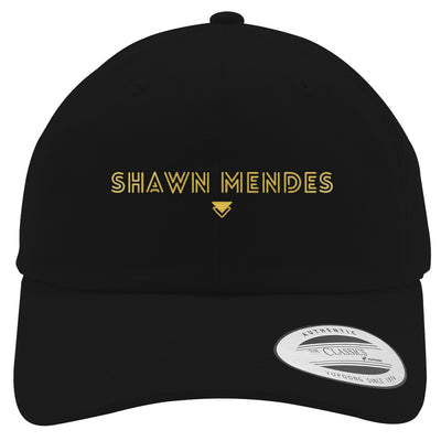 SHAWN-MENDES---GOLD Embroidered Cotton Twill Hat
