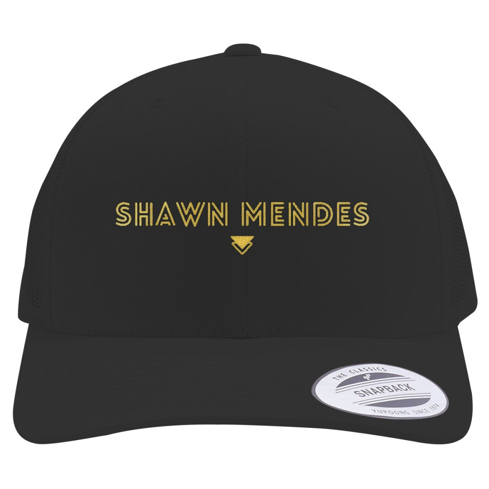 SHAWN-MENDES---GOLD Embroidered Retro Embroidered Trucker Hat – Hatsline 677ab678aa56