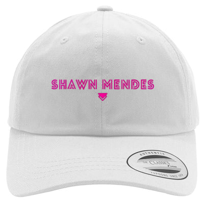 SHAWN-MENDES---PINK Embroidered Cotton Twill Hat