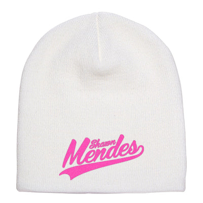 Shawn-mendes---pink Knit Beanie