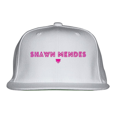 SHAWN-MENDES---PINK Embroidered Snapback Hat