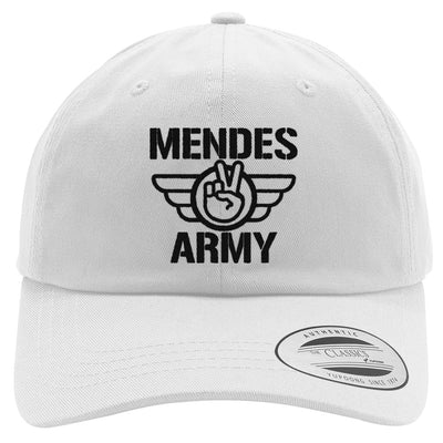 SHAWN MENDES ARMY  - BLACK Embroidered Cotton Twill Hat