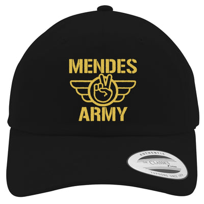 SHAWN MENDES ARMY - GOLD Embroidered Cotton Twill Hat