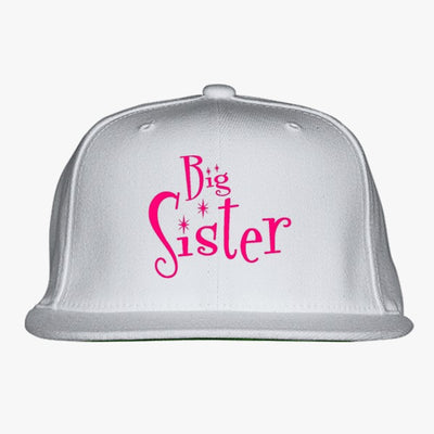 Sibling Gift BIG SISTER Embroidered Snapback Hat