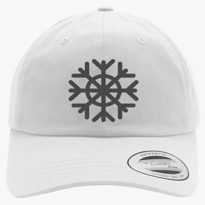 Snowflake Embroidered Cotton Twill Hat