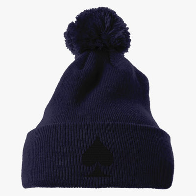 Spades Embroidered Knit Pom Cap