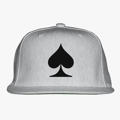 Spades Embroidered Snapback Hat