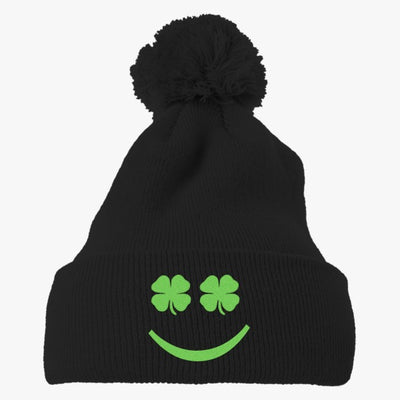 St. Patrick's Day Embroidered Knit Pom Cap