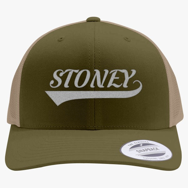 1a05bba01ad44 Post Malone-Stoney Embroidered Retro Embroidered Trucker Hat – Hatsline