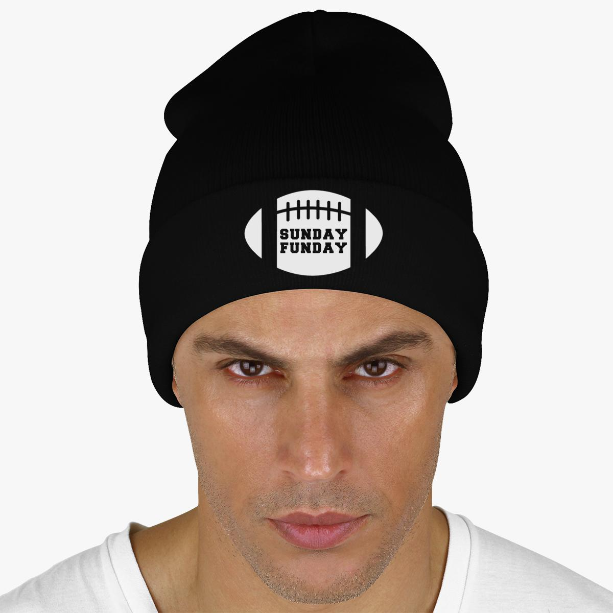 Sunday Funday Football Knit Cap