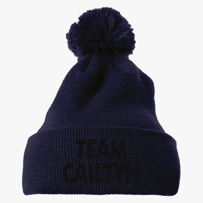 Team Cailtyn Embroidered Knit Pom Cap