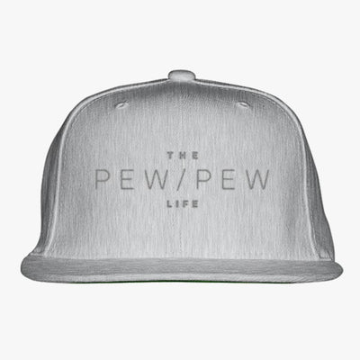 The Pew Pew Life Embroidered Snapback Hat