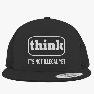 Think Embroidered Trucker Hat
