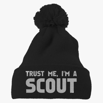 Trust Me Im A Scout Embroidered Knit Pom Cap