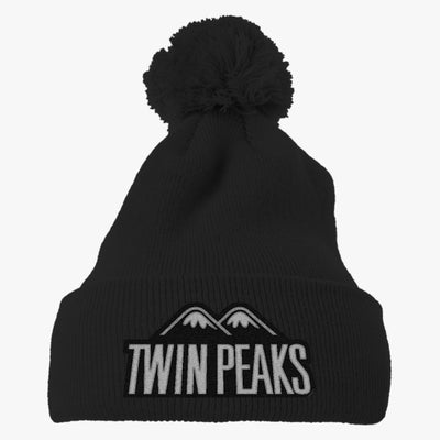 Twin Peaks Embroidered Knit Pom Cap