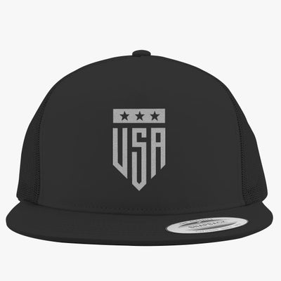 USA Logo Badge Embroidered Trucker Hat