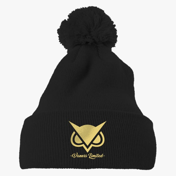 vanoss gaming limited edition embroidered knit pom cap hatsline