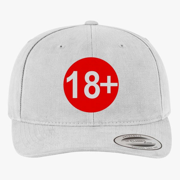 18  Brushed Embroidered Cotton Twill Hat