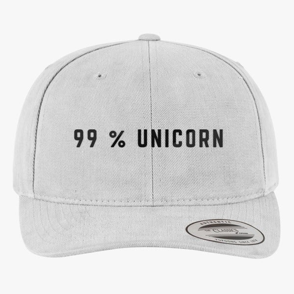 99% Unicorn Brushed Embroidered Cotton Twill Hat