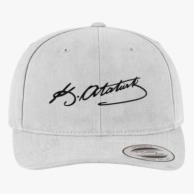 Kemal Ataturk Signature Brushed Embroidered Cotton Twill Hat