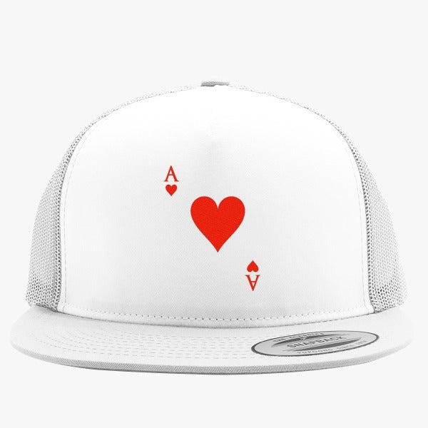 Ace Of Hearts Embroidered Trucker Hat
