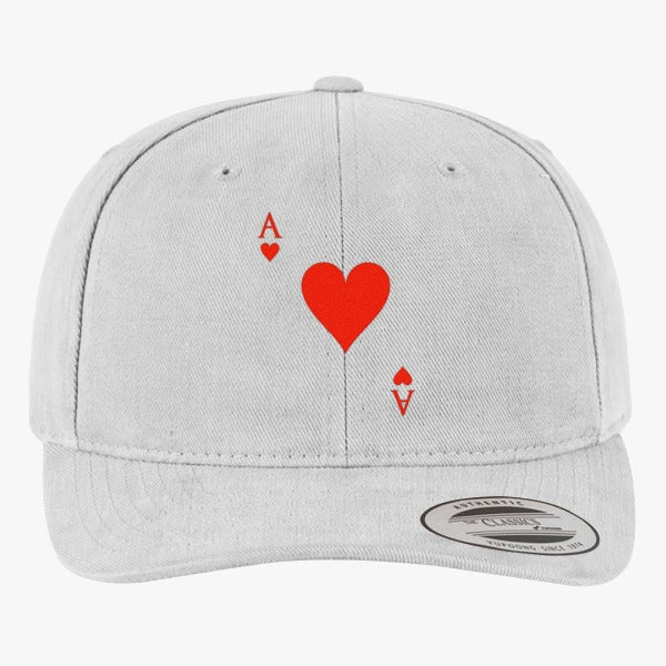 Ace Of Hearts Brushed Embroidered Cotton Twill Hat