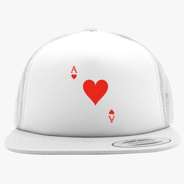 Ace Of Hearts Foam Trucker Hat