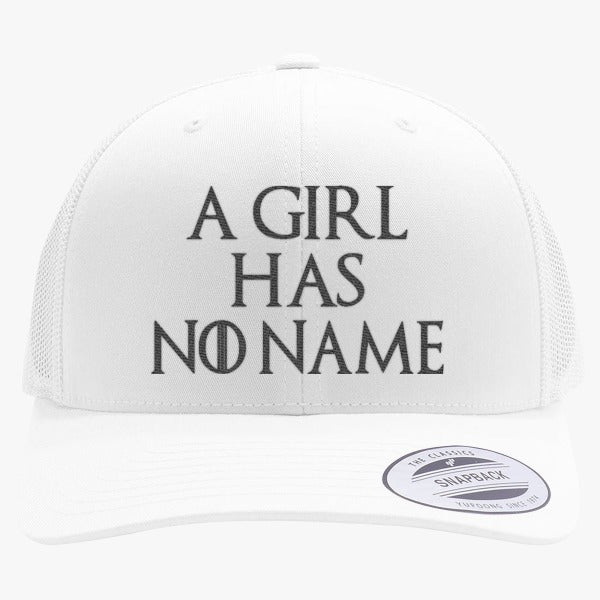 A Girl Has No Name Embroidered Retro Embroidered Trucker Hat