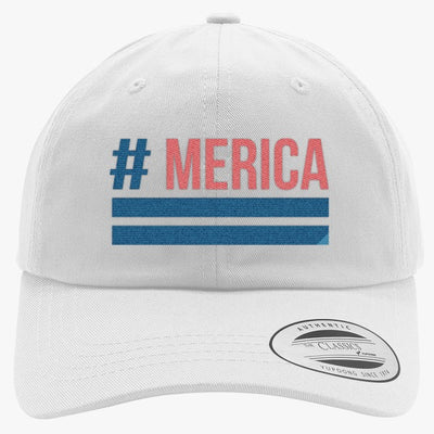'Merica Embroidered Cotton Twill Hat