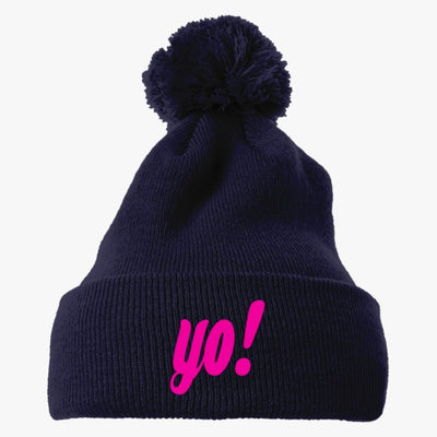 Yo ! Embroidered Knit Pom Cap