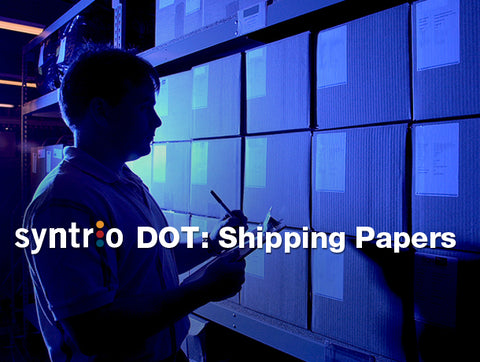 DOT: Shipping Papers