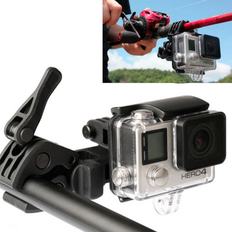 gopro fishing rod mount
