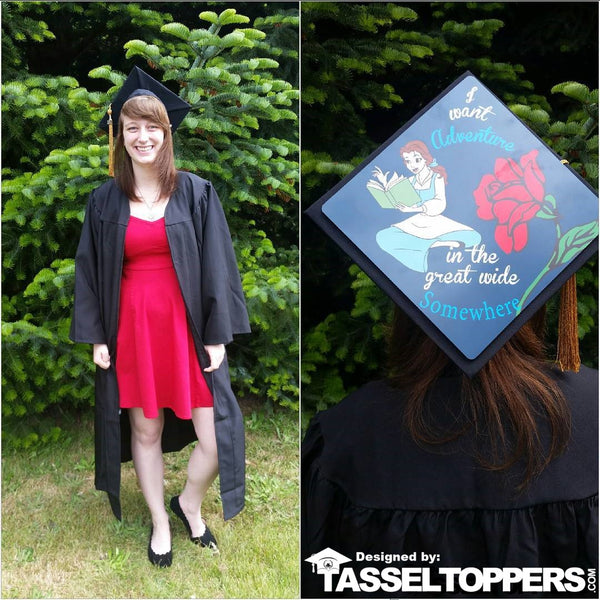 Graduation caps, graduation cap ideas, graduation cap design, DIY graduation caps, custom graduation caps, Disney graduation caps, custom grad cap, Disney grad caps,