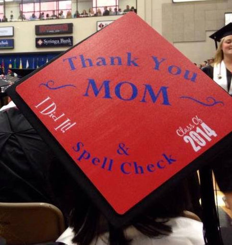 7 Tear-Jerker Graduation Cap Ideas To Give Thanks to Mom ...