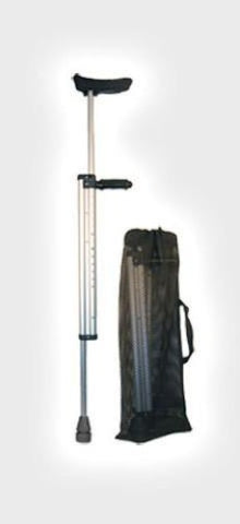 Telescoping Sturdy Travel Crutches Pair