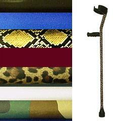 Decorative Crutch Skins in Fashion Prints & Colors AS IS