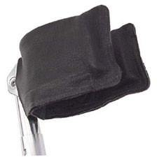 Leather Forearm Crutch Cuff Covers Pair