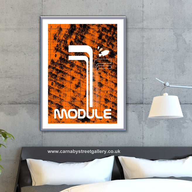 'MODULE' Lunar module Nasa Apollo Moon landing space mission Astronaut 1969 Star solar system travel planets astronomy gallery art print - 'Unframed'