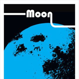 'Moon' Solar system space travel collectible planets astronomy Lunar gallery art print - 'Unframed'