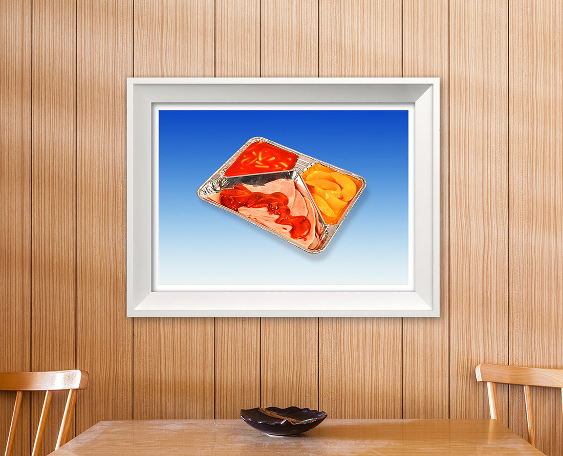 TV Dinner!  Retro kitsch mid century atomic fast food tray meal art print - 'Unframed'